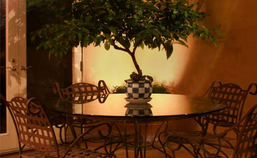 Silhouette Plant Courtyard Table